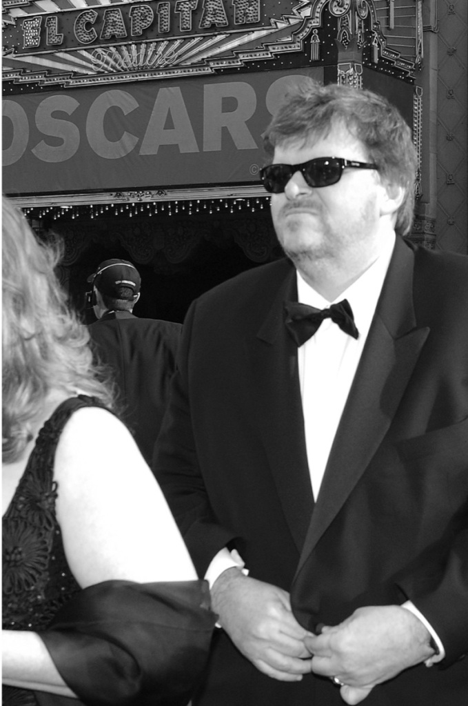 Michael Moore at the 75th Annual Academy Awards