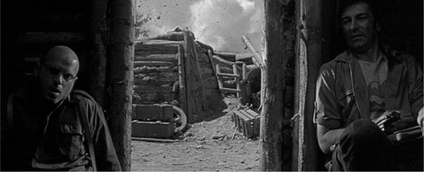 The soldiers in no-man's-land © 2001 Noé Productions, Fabrica Cinema, Man's Films, Judy Counihan Films, Studio MAJ-Casablanca